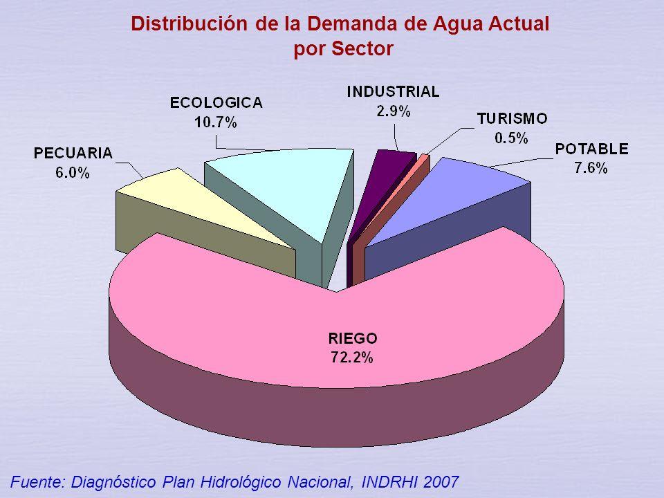 Distribución de la Demanda de Agua Actual