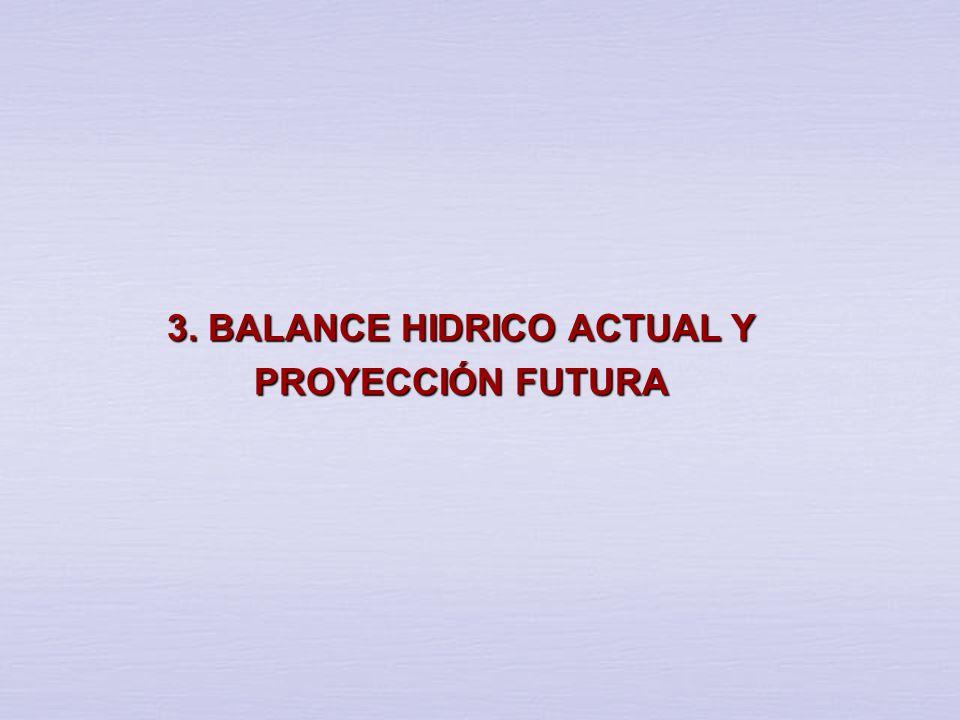 3. BALANCE HIDRICO ACTUAL Y