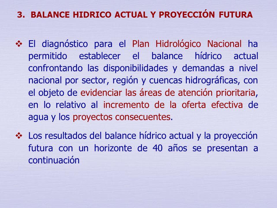 3. BALANCE HIDRICO ACTUAL Y PROYECCIÓN FUTURA
