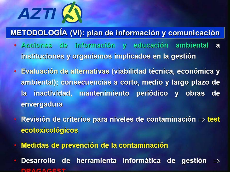 METODOLOGÍA (VI): plan de información y comunicación