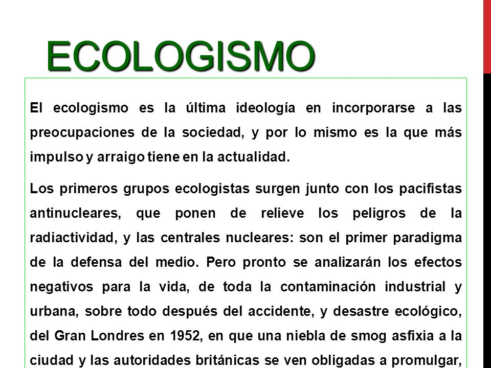 Ecologismo