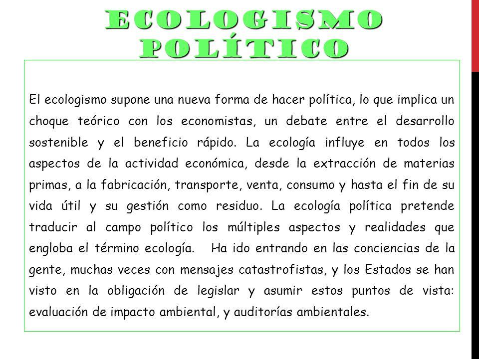ECOLOGISMO POLÍTICO