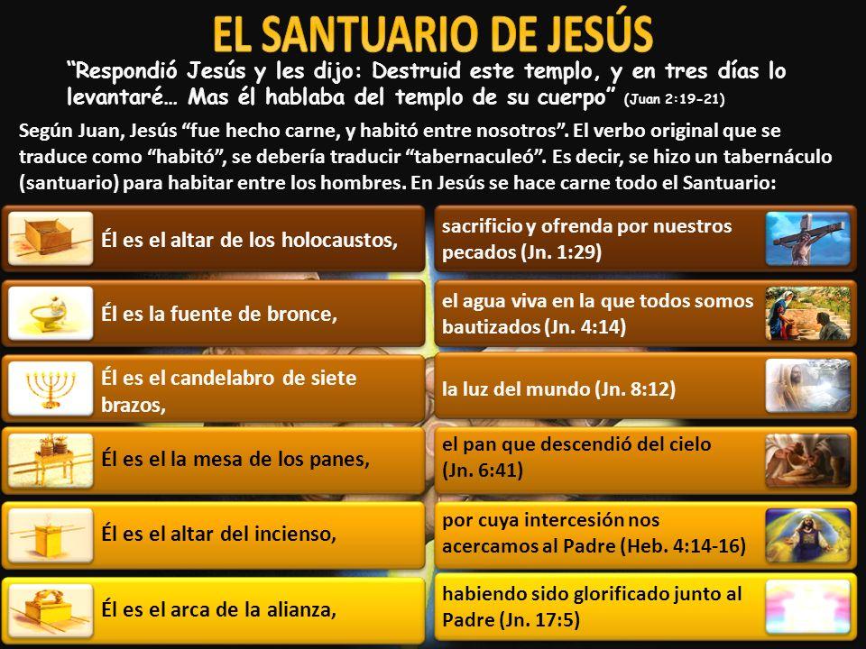 EL SANTUARIO DE JESÚS Él es el altar de los holocaustos,