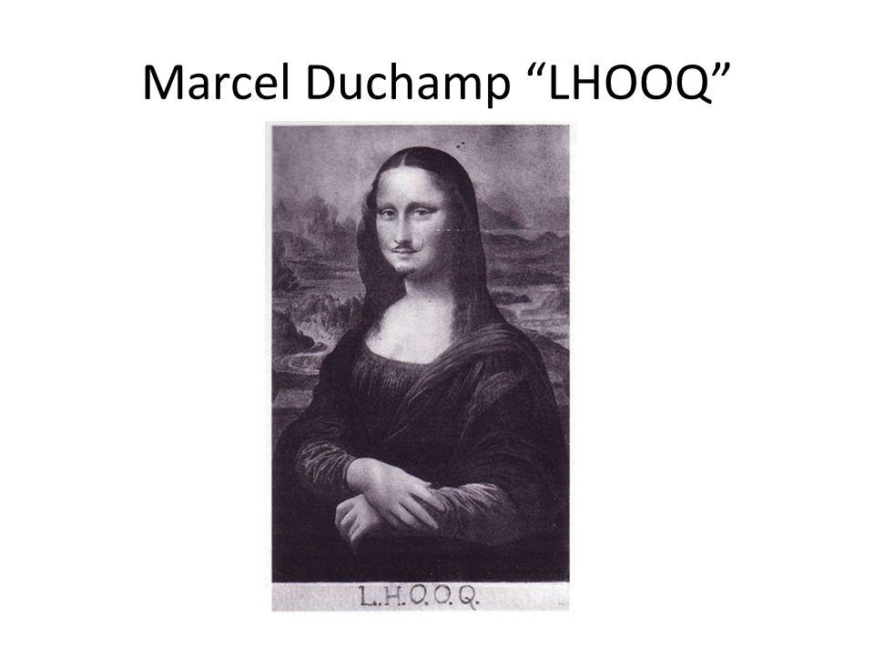 Marcel Duchamp LHOOQ