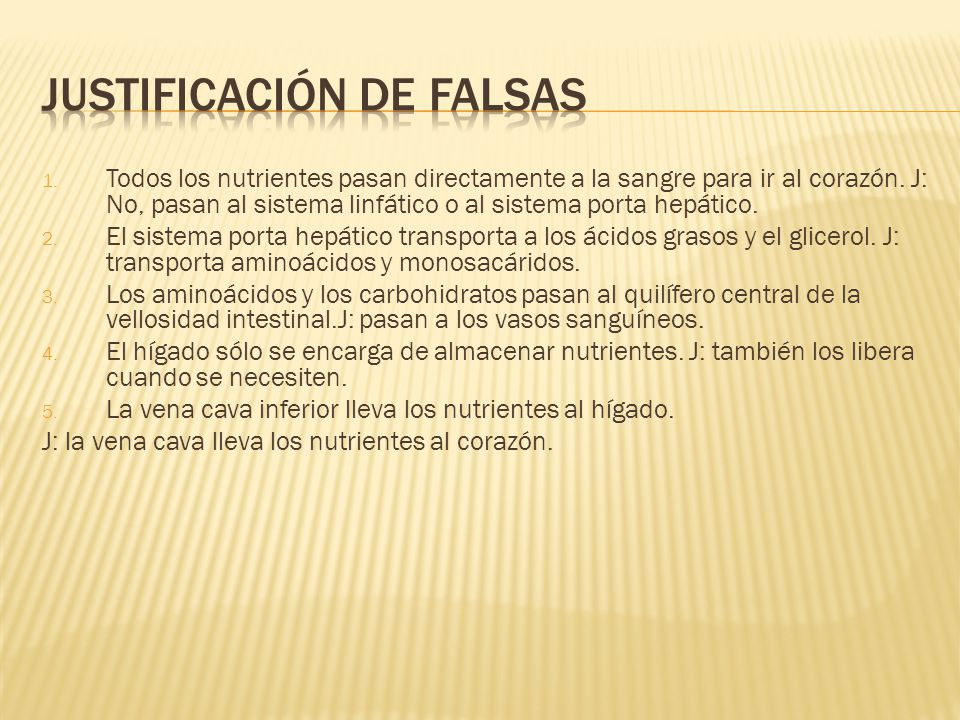 Justificación de falsas