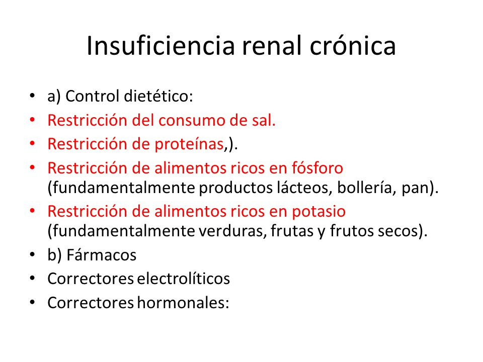 Insuficiencia renal cr nica ppt video online descargar for Alimentos prohibidos para insuficiencia renal