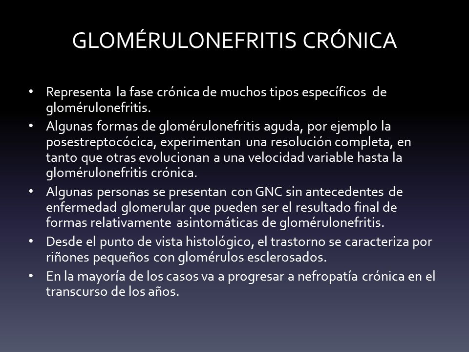 GLOMÉRULONEFRITIS CRÓNICA