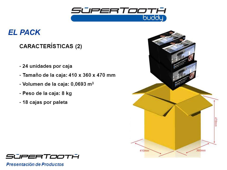 EL PACK CARACTERÍSTICAS (2) 24 unidades por caja