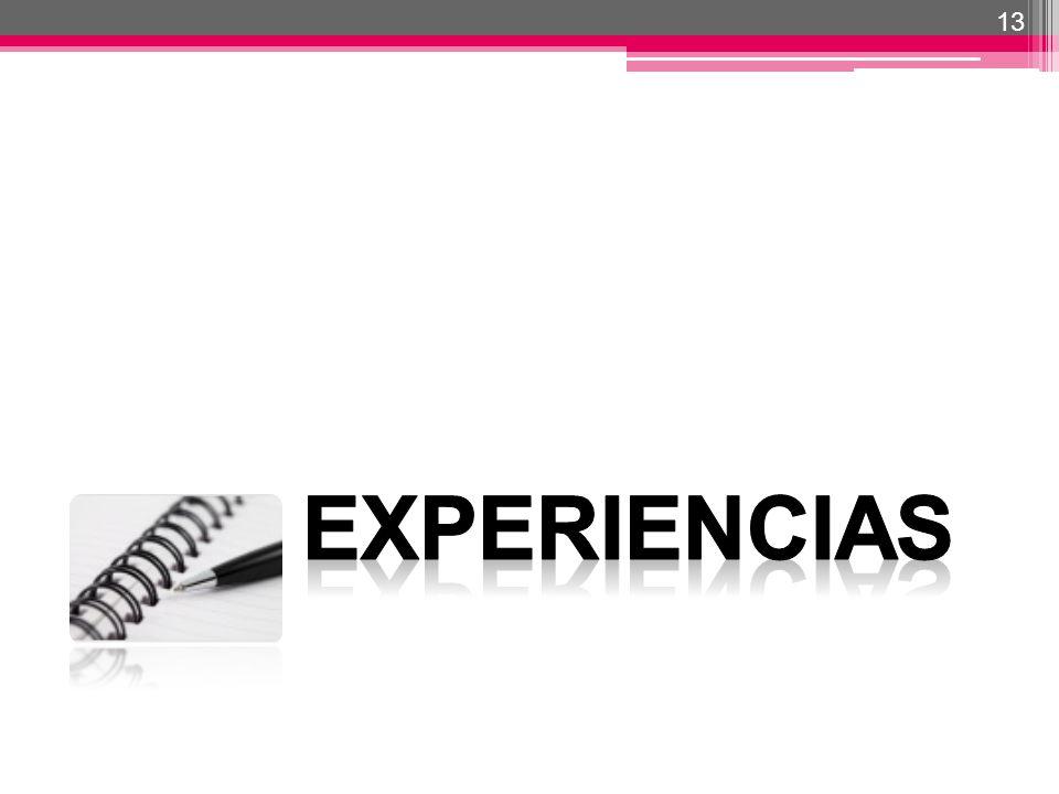 13 EXPERIENCIAS