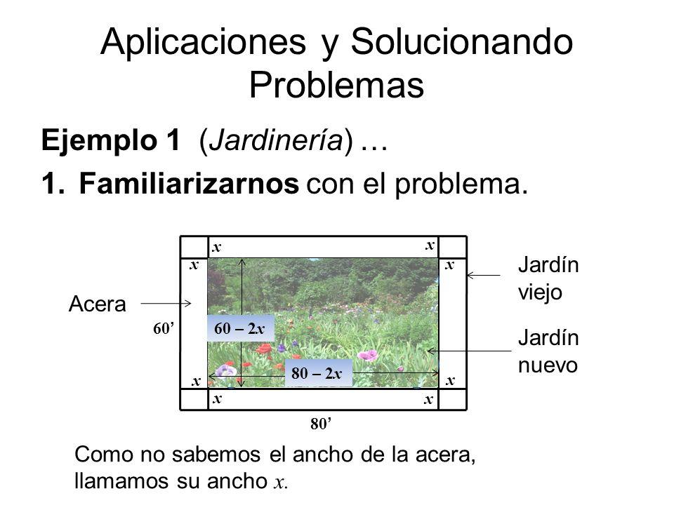 Aplicaciones y Solucionando Problemas