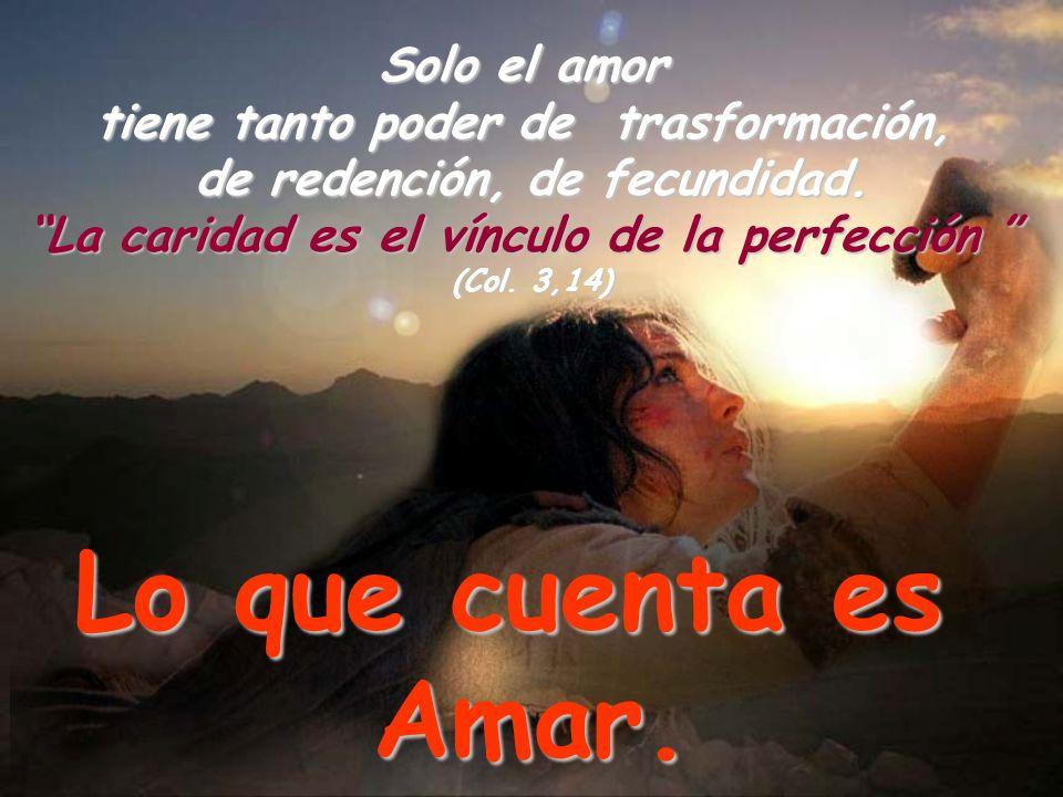 Lo que cuenta es Amar. Solo el amor