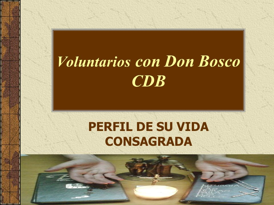 Voluntarios con Don Bosco CDB