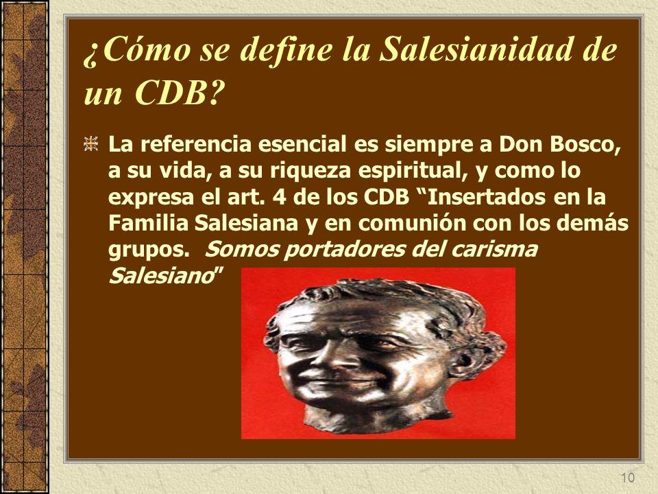 ¿Cómo se define la Salesianidad de un CDB