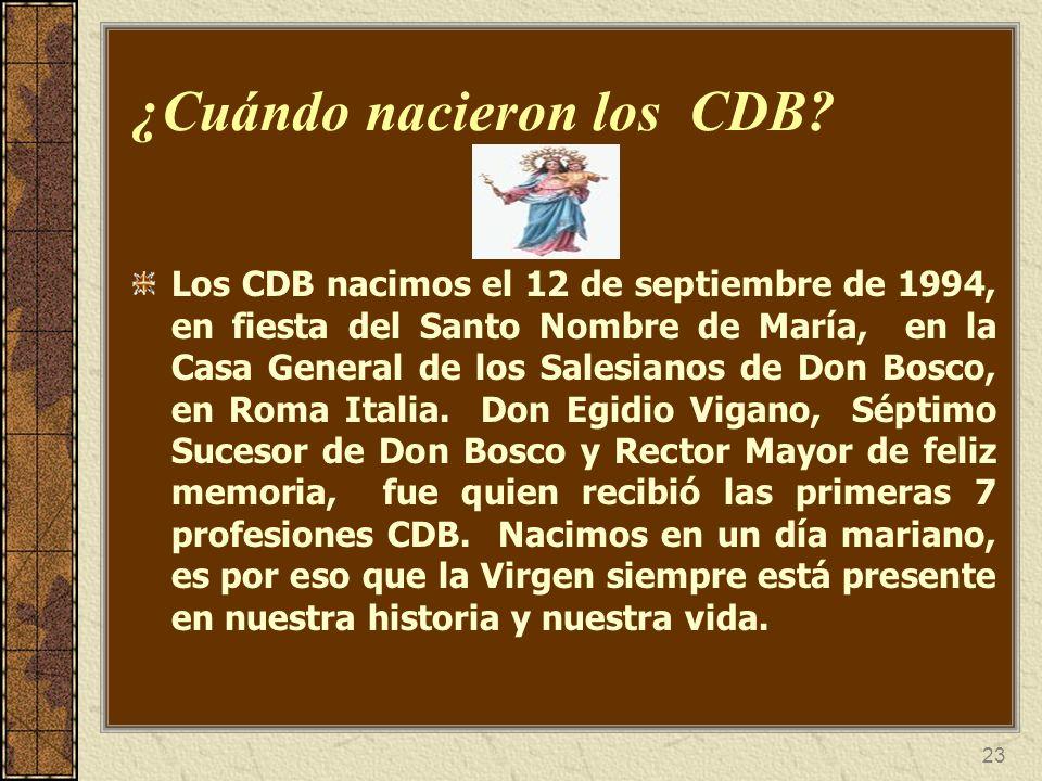¿Cuándo nacieron los CDB