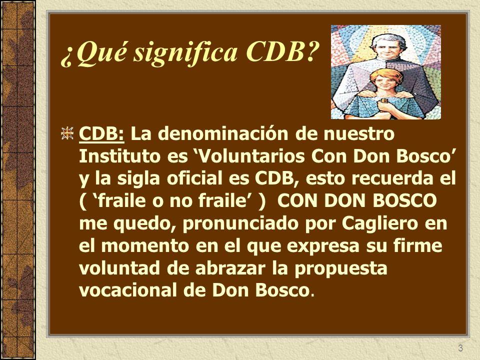 ¿Qué significa CDB