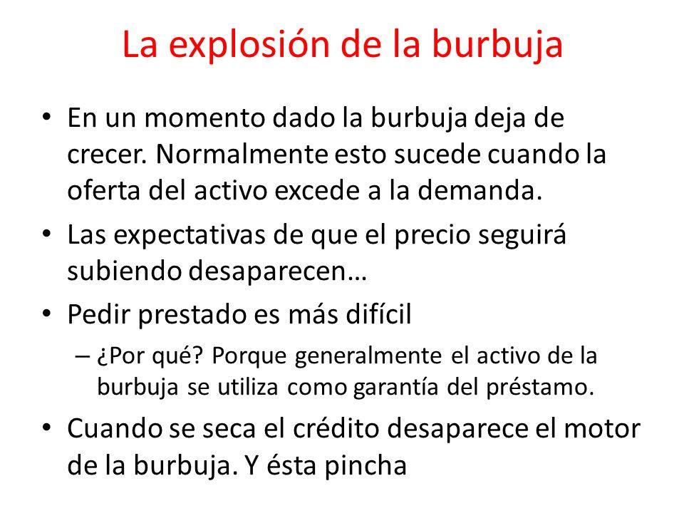 La explosión de la burbuja