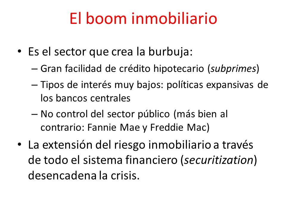 El boom inmobiliario Es el sector que crea la burbuja: