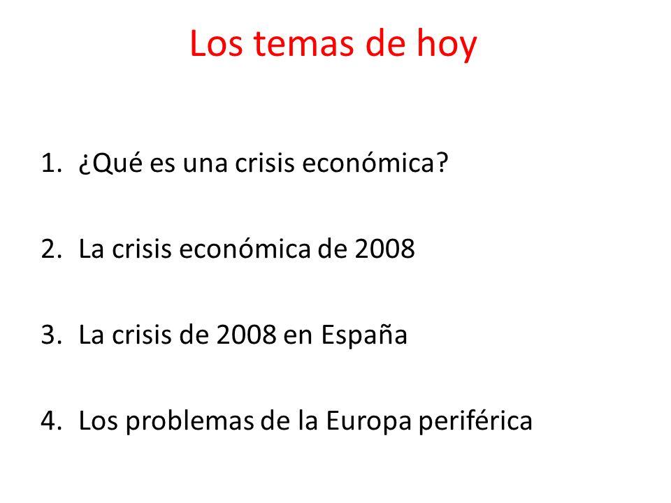 Los temas de hoy ¿Qué es una crisis económica