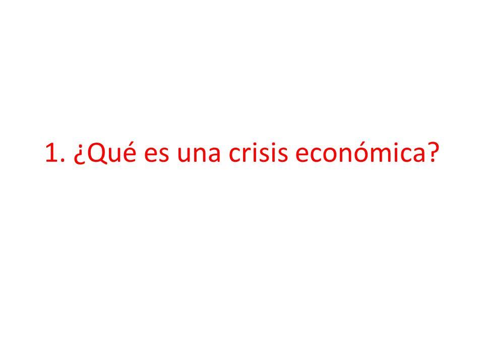1. ¿Qué es una crisis económica