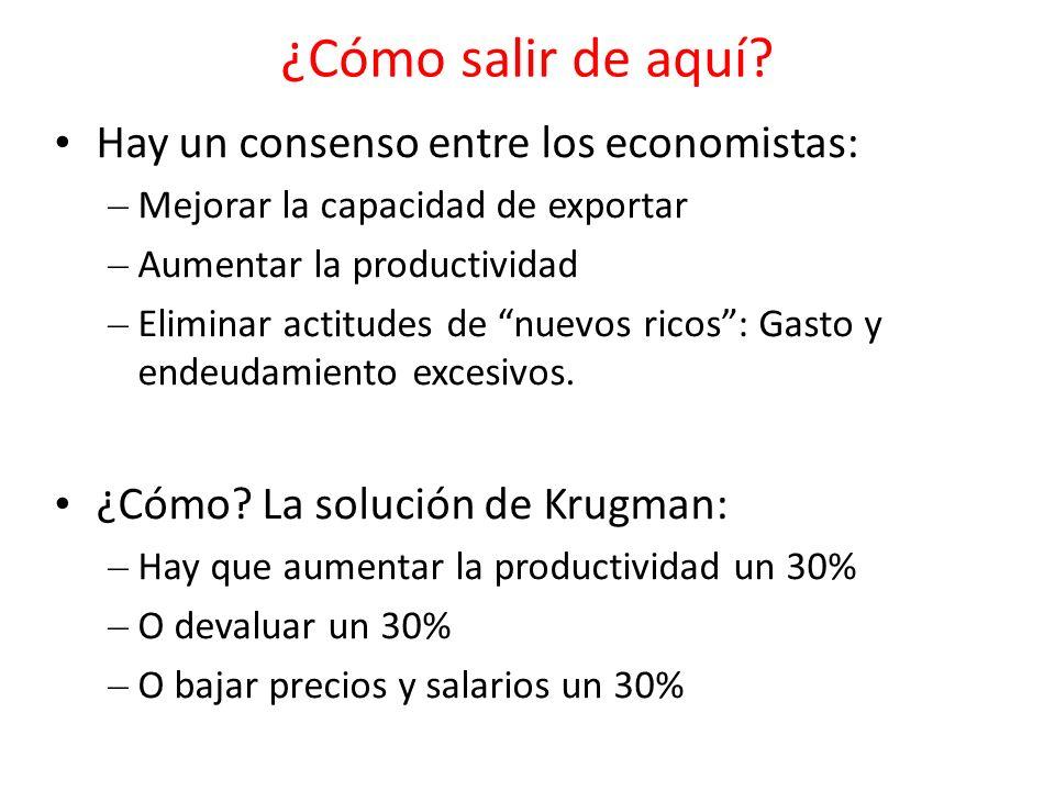 ¿Cómo salir de aquí Hay un consenso entre los economistas: