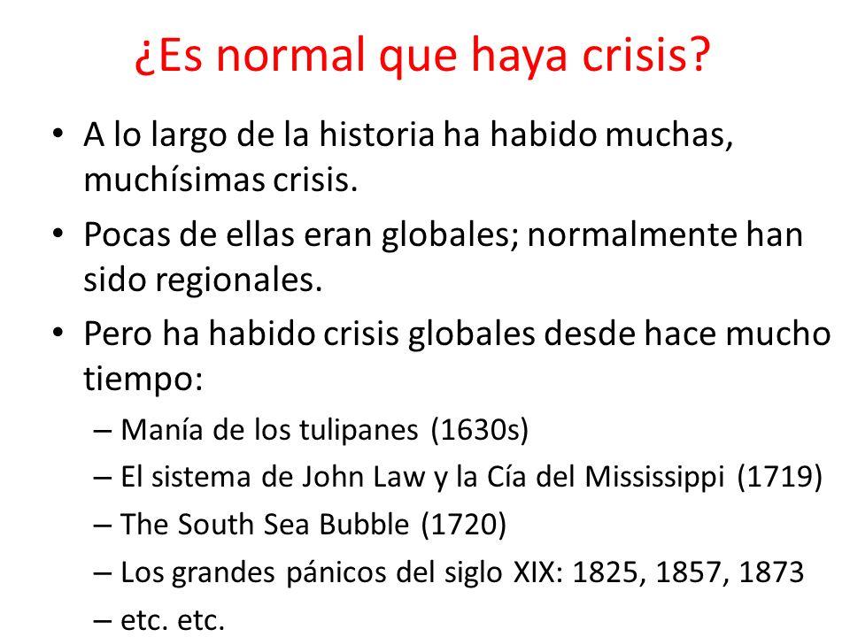 ¿Es normal que haya crisis