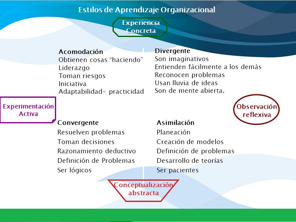 Estilos de Aprendizaje Organizacional