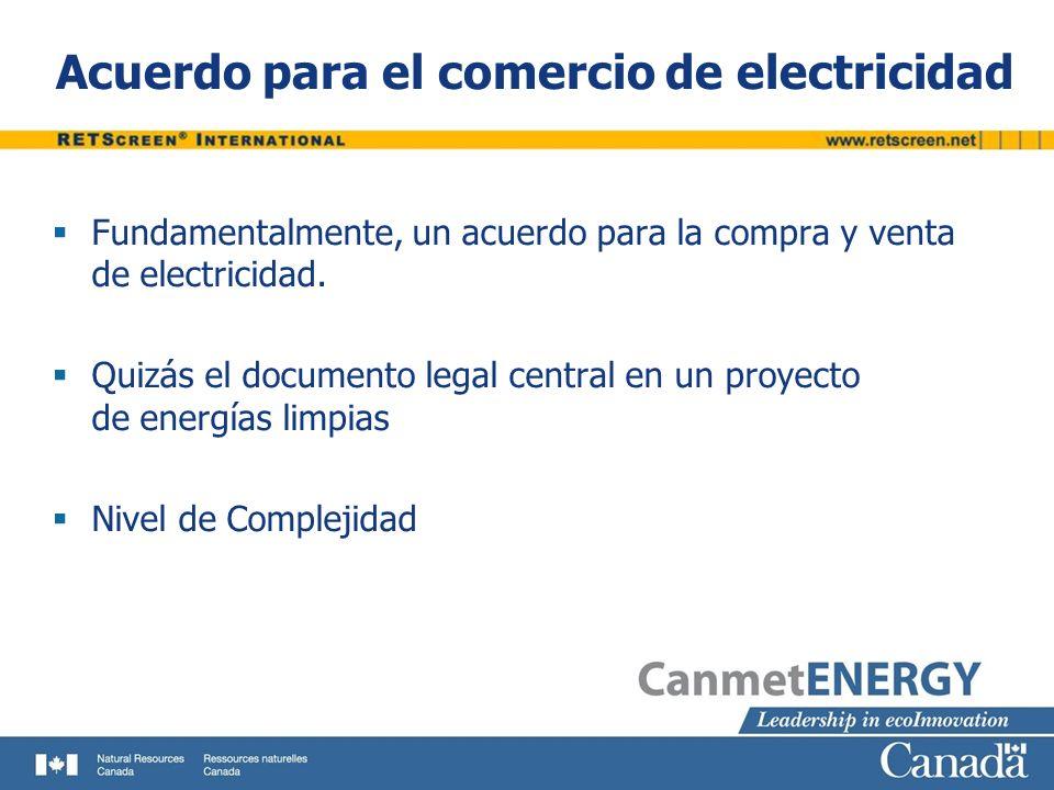 Acuerdo para el comercio de electricidad