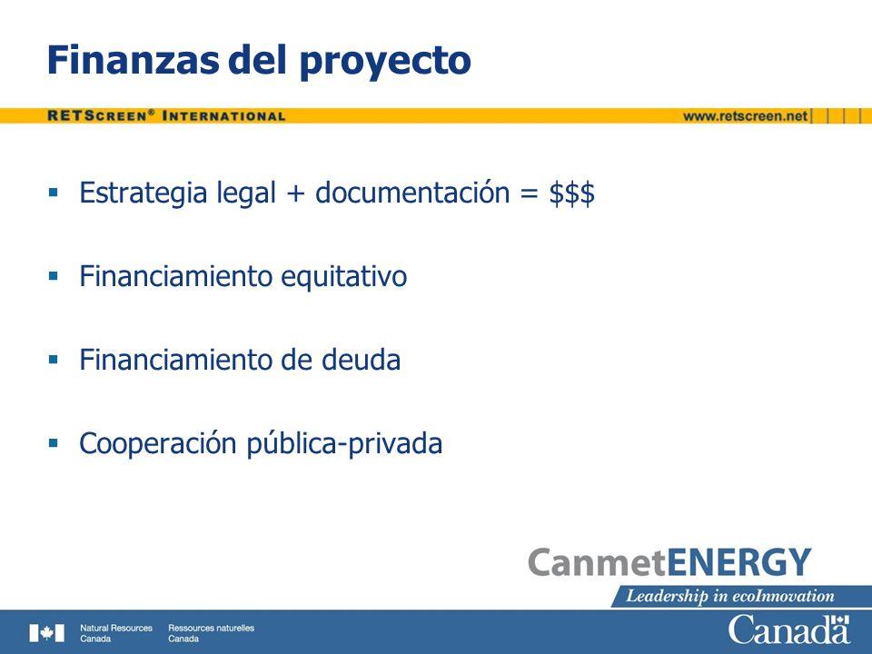 Finanzas del proyecto Estrategia legal + documentación = $$$