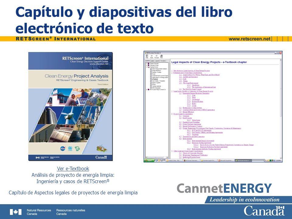 Capítulo y diapositivas del libro electrónico de texto