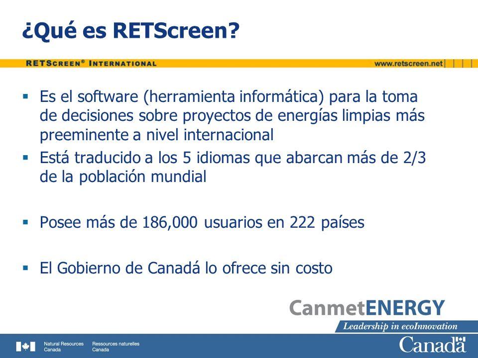 ¿Qué es RETScreen
