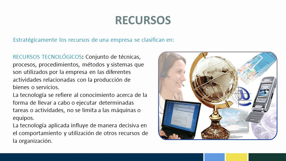 RECURSOS Estratégicamente los recursos de una empresa se clasifican en: