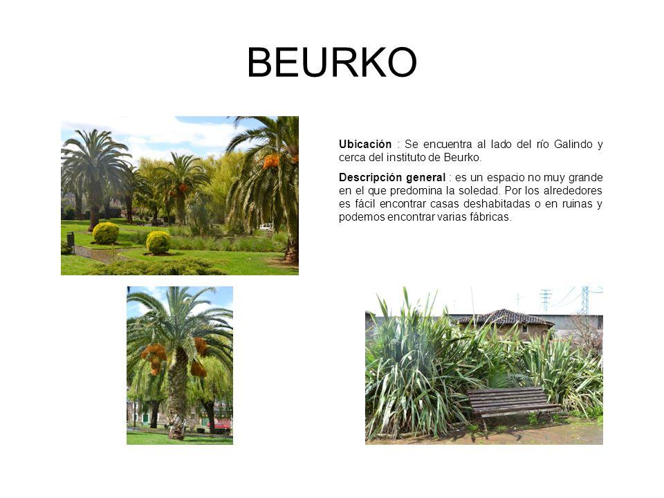 BEURKO Ubicación : Se encuentra al lado del río Galindo y cerca del instituto de Beurko.