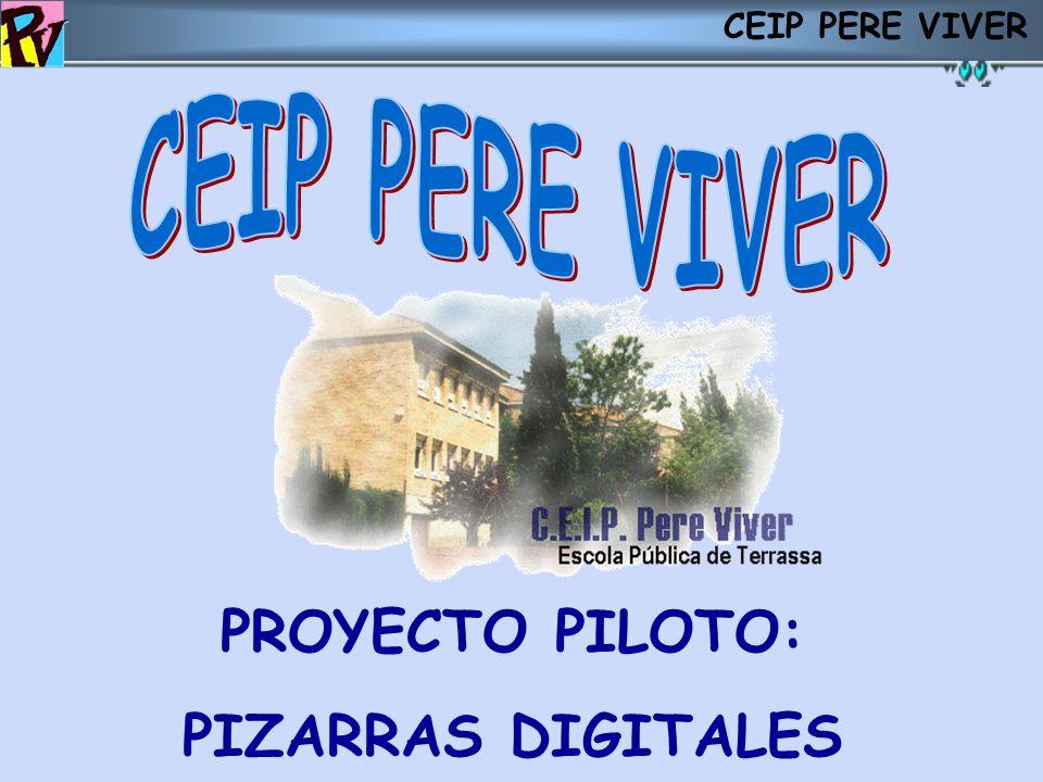 PROYECTO PILOTO: PIZARRAS DIGITALES