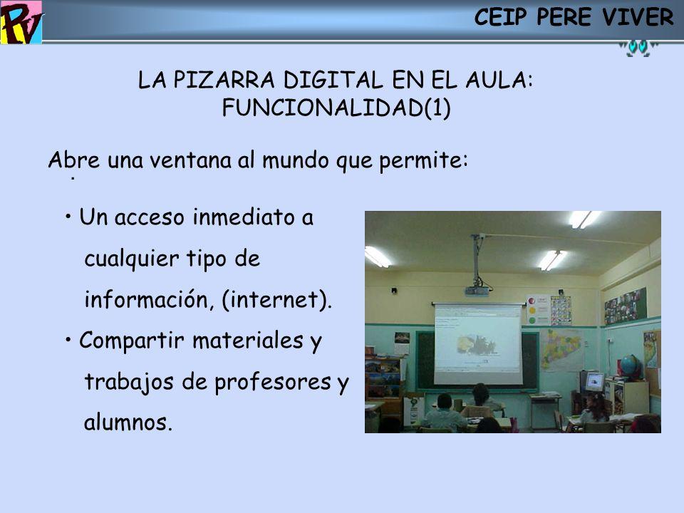 LA PIZARRA DIGITAL EN EL AULA: FUNCIONALIDAD(1)