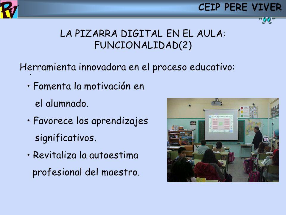LA PIZARRA DIGITAL EN EL AULA: FUNCIONALIDAD(2)