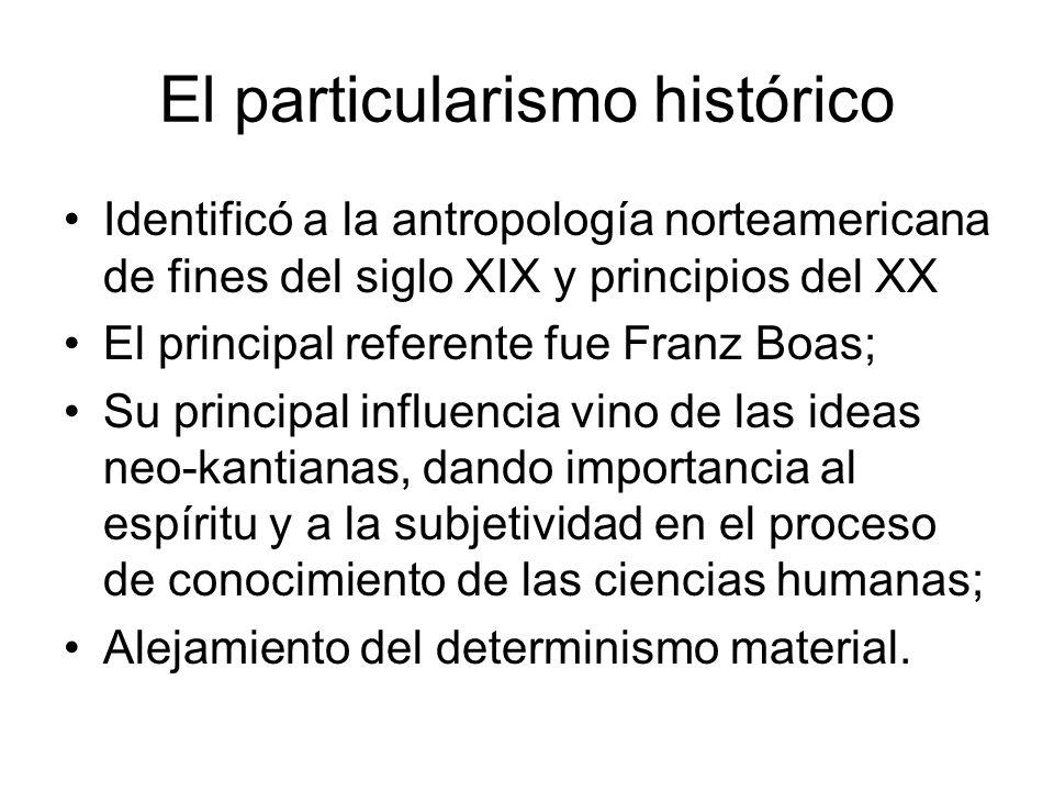 El particularismo histórico