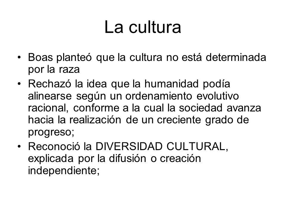 La cultura Boas planteó que la cultura no está determinada por la raza
