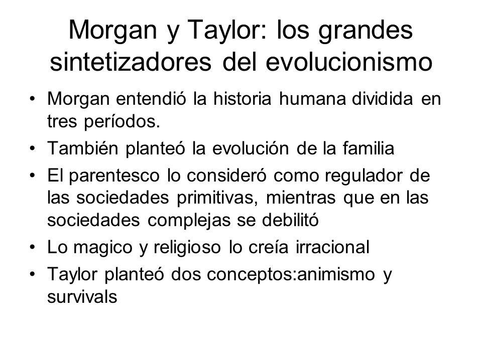 Morgan y Taylor: los grandes sintetizadores del evolucionismo