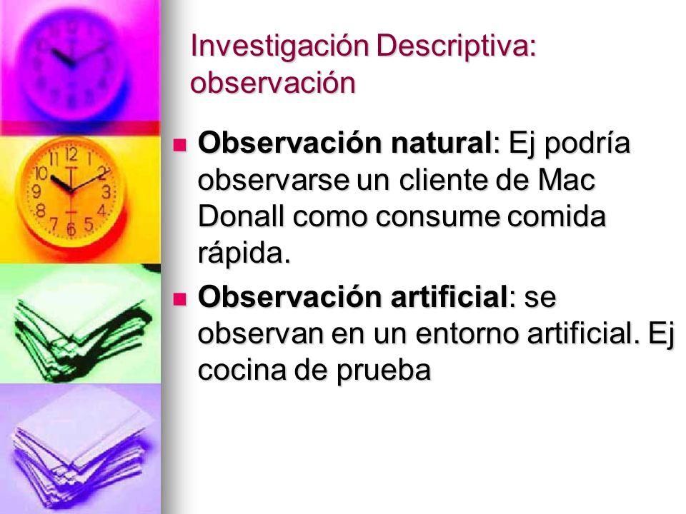 Investigaci n descriptiva encuesta y observaci n ppt for Cocina de investigacion