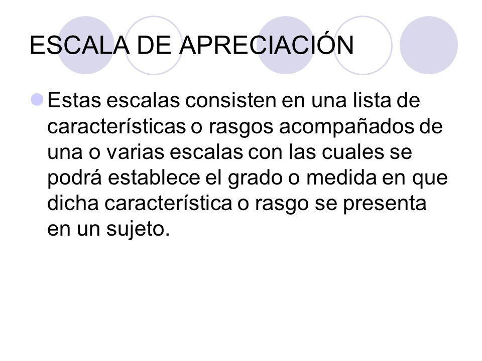 ESCALA DE APRECIACIÓN