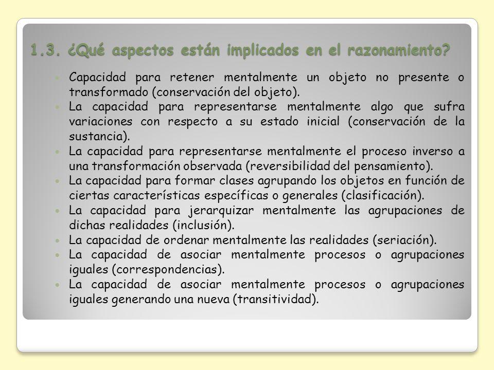1.3. ¿Qué aspectos están implicados en el razonamiento