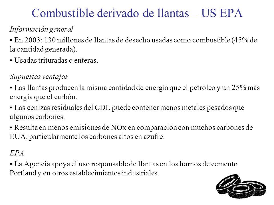 Combustible derivado de llantas – US EPA