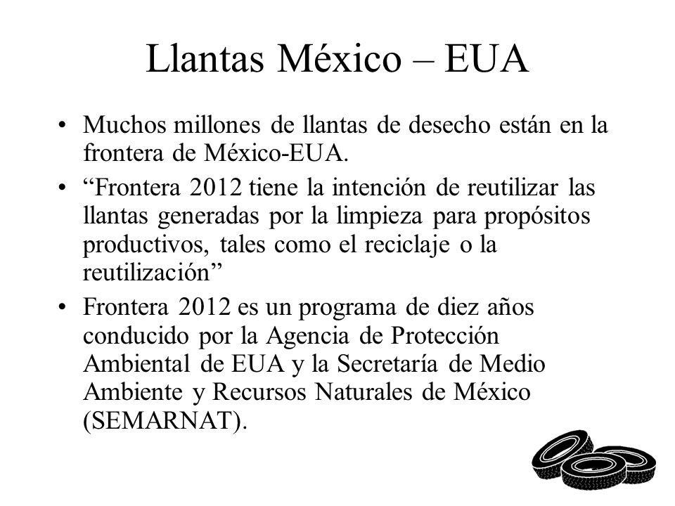 Llantas México – EUA Muchos millones de llantas de desecho están en la frontera de México-EUA.