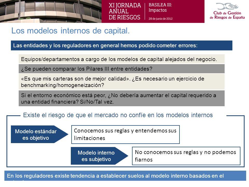 Los modelos internos de capital.