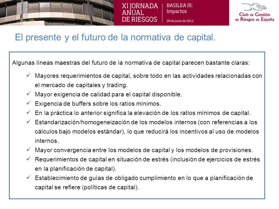 El presente y el futuro de la normativa de capital.