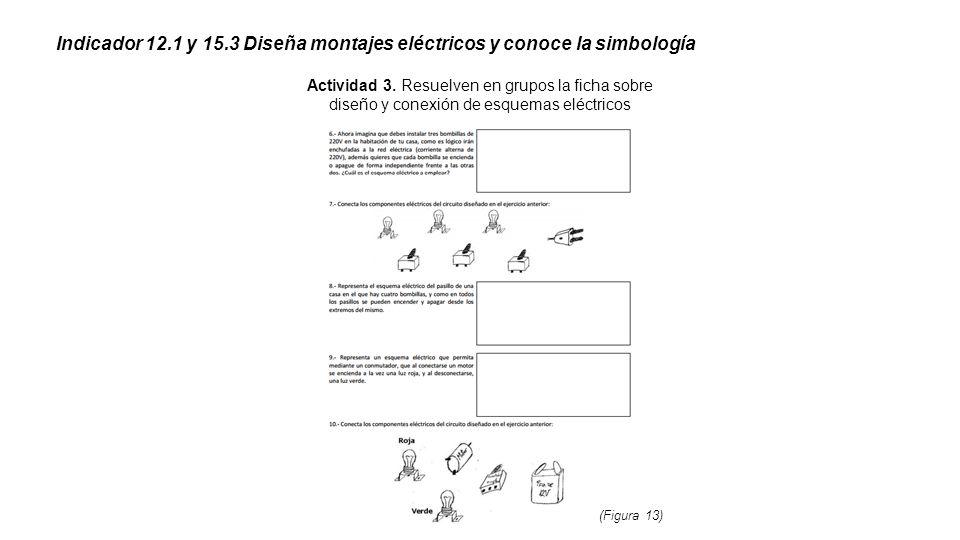 Indicador 12.1 y 15.3 Diseña montajes eléctricos y conoce la simbología