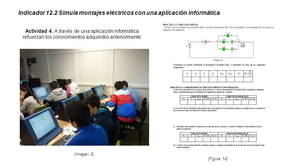 Indicador 12.2 Simula montajes eléctricos con una aplicación informática