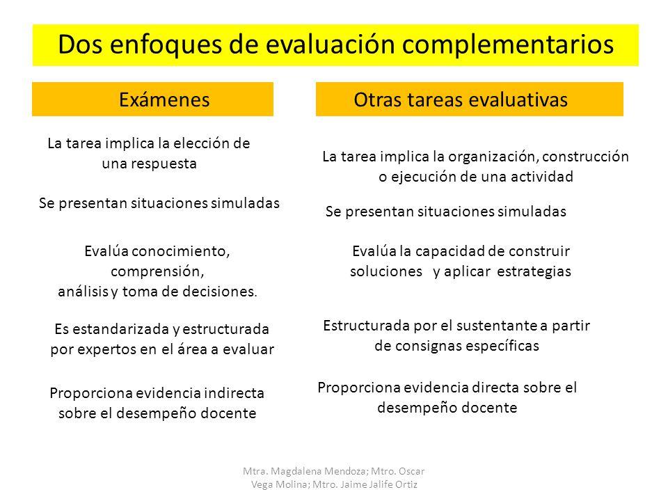 Dos enfoques de evaluación complementarios