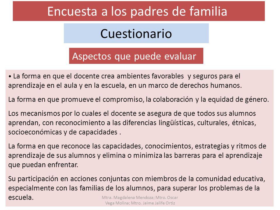 Encuesta a los padres de familia
