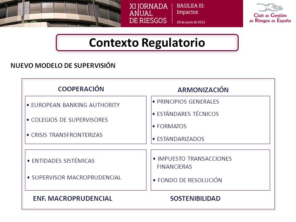 Contexto Regulatorio NUEVO MODELO DE SUPERVISIÓN COOPERACIÓN